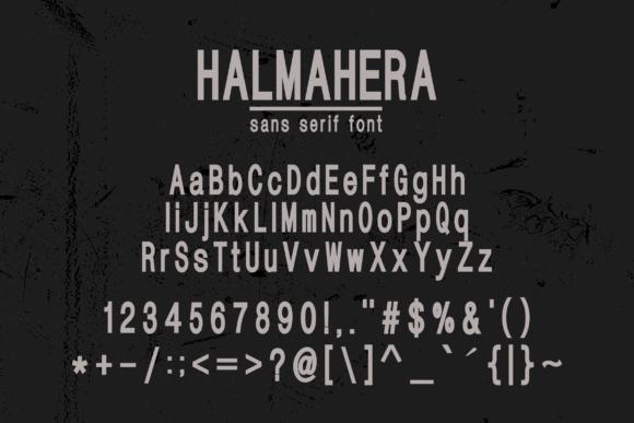 Halmahera Sans Serif Font