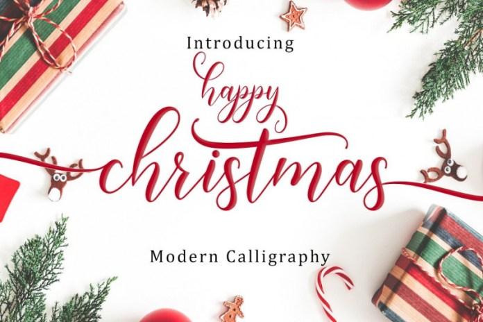 Happy Christmas Calligraphy Font