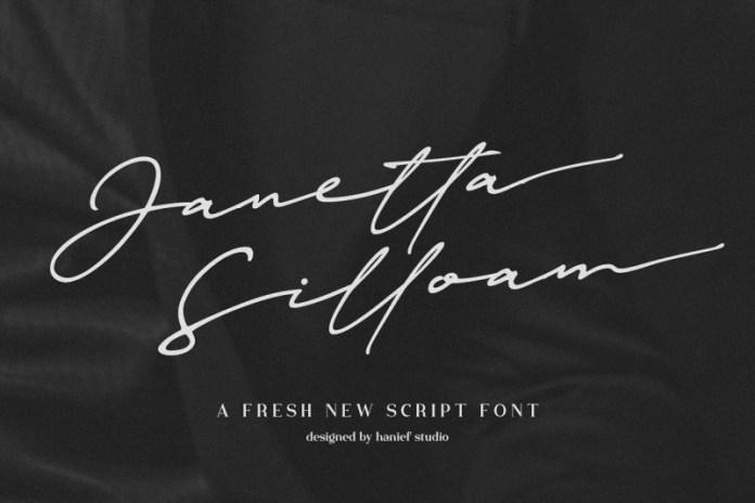 Janetta Silloam Signature Font