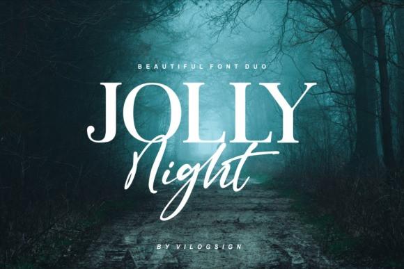 Jolly Night Font Duo