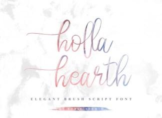 Holla hearth Brush Font