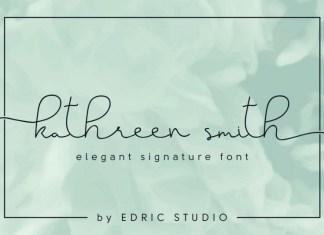 Kathreen Smith Elegant Signature Font