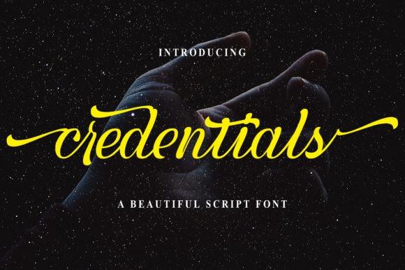 Credentials Script Font