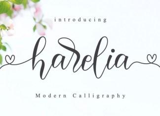 Harelia - Lovely Script Font