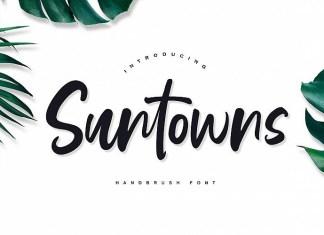 Suntowns Script Font
