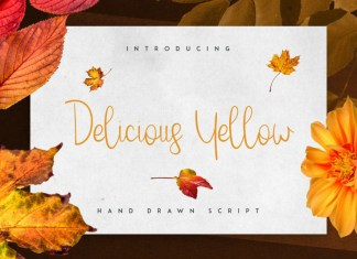Delicious yellow Script Font