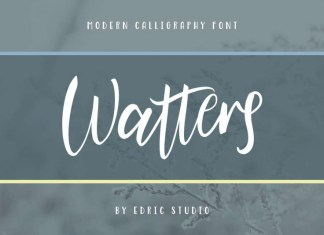 Watters Calligraphy Font