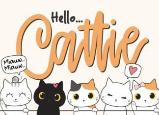 Cattie - Cute Script Font