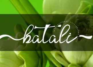 Batali Calligraphy Font