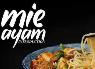 Mie Ayam Script Font