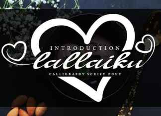 Lallaiku Calligraphy Font