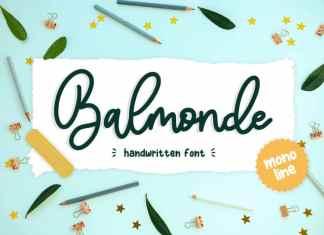 Balmonde Handwritten Font
