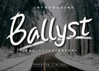 Ballyst Brush Font