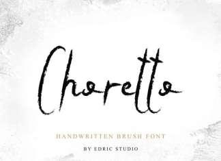 Choretto Handwritten Brush Font