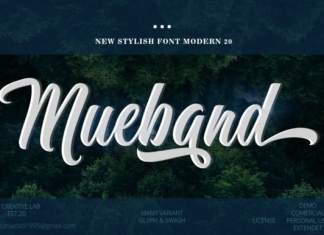 Mueband Calligraphy Font