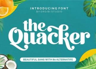 Quacker Beautiful Sans Font