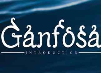 Ganfosa Display Font