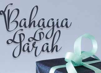 Bahagia Jarah Script Font