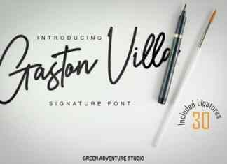 Gaston Villa Handwritten Font