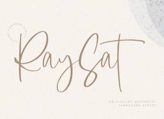 Raysat - Elegant Signature Font