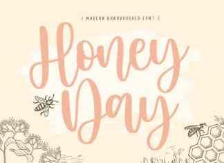 Honeyday Modern Handbrushed Font