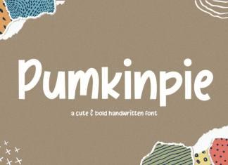 Pumkinpie Cute & Bold Handwritten Font