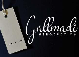 Gallmadi Calligraphy Font