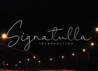 Signatulla Handwritten Font