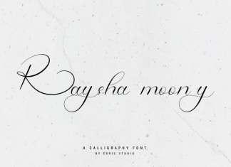Raysha Moonly Calligraphy Font