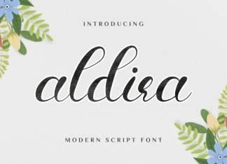 Aldira Calligraphy Font