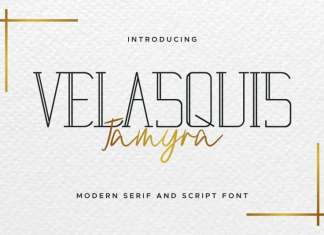 Velasquis Tamyra Font Duo
