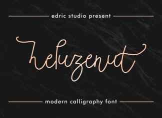 Heluzenut Handwritting Font