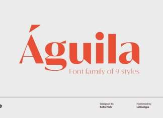 Águila Sans Serif Font