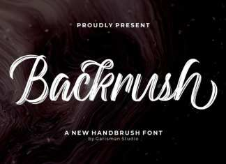Backrush Brush Font