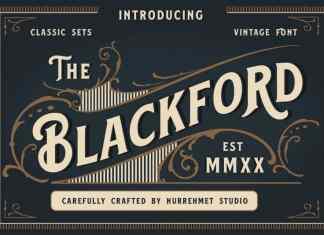 Blackford Serif Font