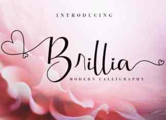 Brillia Calligraphy Font