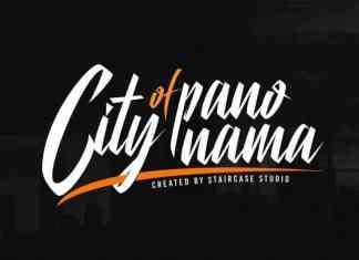 City Of Panonama Script Font