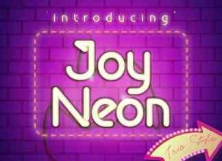 Joy Neon Display Font