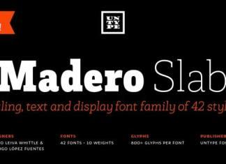 Madero Slab Serif Font