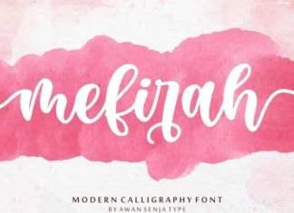 Mefirah Script Font