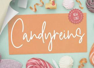 Candyreins Monoline Calligraphy Font