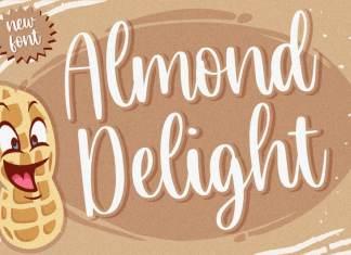 Almond Delight Handwritten Font