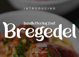 Bregedel Handwritten Font