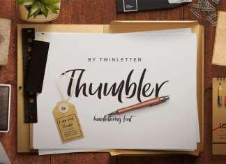 Thumbler Handwritten Font