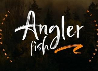 Angler Fish Brush Font