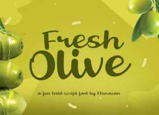Fresh Olive Script Font