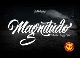 Magnitudo Script Font