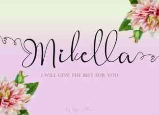 Mikella Calligraphy Font