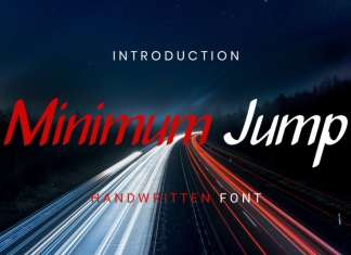 Minimum Jump Handwritten Font