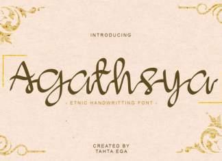 Agathsya Script Font
